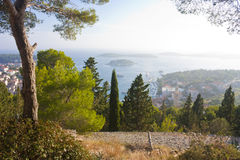 Hvar view from the hill Royalty Free Stock Photo