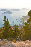 Hvar view from the hill Royalty Free Stock Image