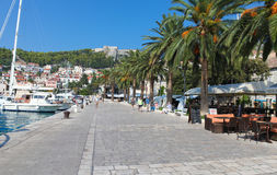 Hvar waterfront Stock Photography