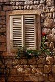 Hvar Window. A shuttered window on the island of Hvar, on the Dalmatian Coast - Croatia Royalty Free Stock Image