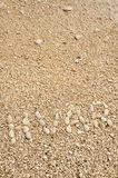 HVAR word made of pebbles Royalty Free Stock Photo