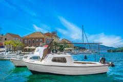 Hvar wyspa w Chorwacja, europejscy lato podróży miejsca obraz royalty free