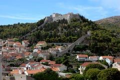 Hvar y su fortaleza, Croatia Imagen de archivo libre de regalías