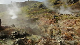 Hveragerdi hot springs stock video footage