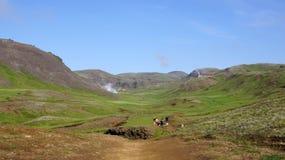Hveragerdi reykjedalur walk. Hveragerdi Reykjadalur walk to the hot (varma) river stock photo
