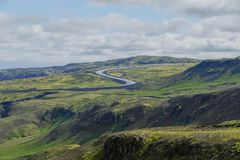Hveragerdi valley of hot waters in iceland Royalty Free Stock Photography