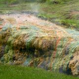 Hveragerdi valley of hot waters in iceland Royalty Free Stock Photo