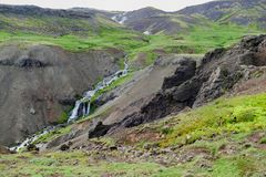 Hveragerdi valley of hot waters in iceland Stock Photo