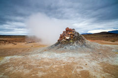 Hverarönd - active volcanic area near Myvatn lake, North Icelan Royalty Free Stock Photography