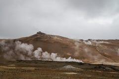 Hverarond volcanic peak near Myvatn lake Royalty Free Stock Photos
