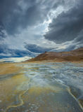 Hverarondor Hverir hot springs, Iceland Stock Photos