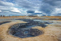 Hverarondor Hverir hot springs, Iceland Royalty Free Stock Images
