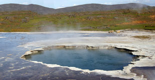 Hveravellir blue hot spring Royalty Free Stock Image