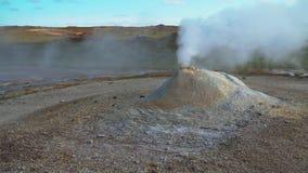 Hveravellir geotermal area stock footage