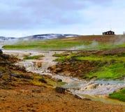 Hveravellir geothermisch park stock foto
