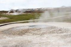 Hveravellir. Hot geothermal spring, Hveravellir, Iceland Royalty Free Stock Photos