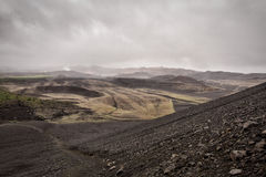 Hverfell crater. View from the Hverfell crater, Iceland stock image