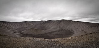 Hverfell crater. View inside the Hverfell crater, Iceland stock photography