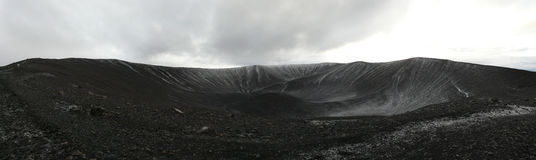 Hverfjall caldera, Iceland royalty free stock photo