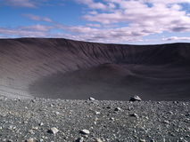Hverfjall crater, Iceland Stock Photos