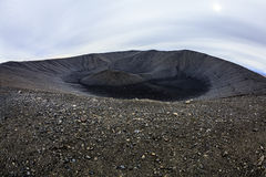 Hverfjall crater Stock Photo