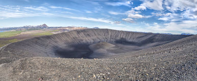 Hverfjall - crater of volcano, Iceland royalty free stock photos