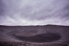 Hverfjall crater of volcano in Myvatn area in northern Iceland Royalty Free Stock Photography