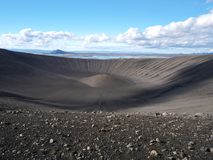 Hverfjall, Islande du nord photos stock