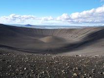 Hverfjall, noordelijk IJsland Stock Foto's