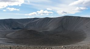 Hverfjall volcanic crater in Iceland royalty free stock images