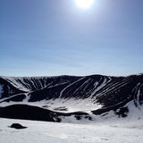 Hverfjall Volcano Crater Fotografia de Stock Royalty Free