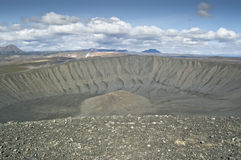 Hverfjall volcano (Islandia) Royalty Free Stock Photography