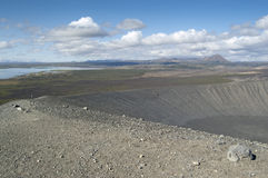 Hverfjall volcano (Islandia) Royalty Free Stock Images