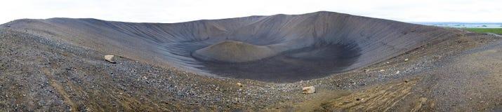 Hverfjall volcano (Islandia) Royalty Free Stock Image