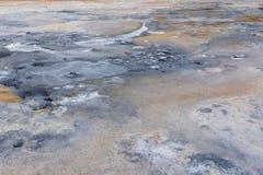Hverir, detalhes à terra, areia e poças Foto de Stock