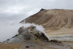 Hverir geothermal site, Iceland Royalty Free Stock Images