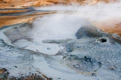 Hverir geothermisch gebied in het noorden van IJsland royalty-vrije stock foto