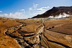 Hverir Namafjall, IJsland. Royalty-vrije Stock Foto's