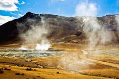 Hverir Namafjall, IJsland. Royalty-vrije Stock Foto