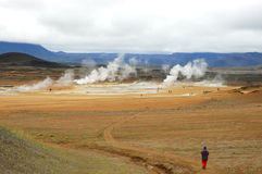 Hverir volcanic area, Iceland. Royalty Free Stock Photography