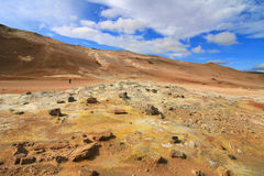 Hverir volcanic landscape Royalty Free Stock Photos