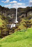 Hvertisfljot waterfalls,  Iceland Stock Photo