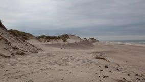 Hvide Sande in Denmark has 40 km sandy beaches stock video footage