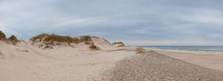 Hvide Sande is the epitome of beaches.West Jutland, Denmark. royalty free stock photo