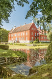Hviderup Slott through the trees Stock Photography
