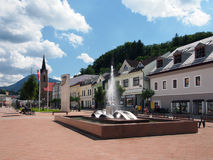 Hviezdoslav Square in Dolny Kubin Royalty Free Stock Photography