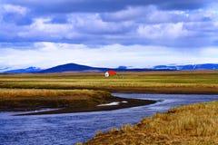 Hvitarnes-H?tte, Island lizenzfreies stockfoto