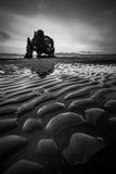 Hvitserkur in Iceland. Hvitserkur rock in Iceland coastline stock photo