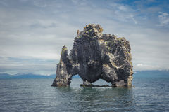 Hvitserkur, rock formation in Hunafjordur fjord, Iceland Stock Images
