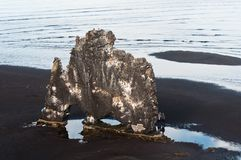 Hvitserkur rock, tourist site in Iceland Stock Photos